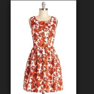 ModCloth Bea & Dot Seaside Sketching Floral Dress